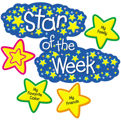Mrs majinski 39 s first grade class spelling words and star for Star of the week poster template